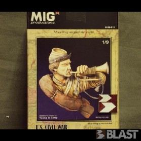 MPH09019 - US CIVIL WAR TRUMPETER - 1/9 SCALE
