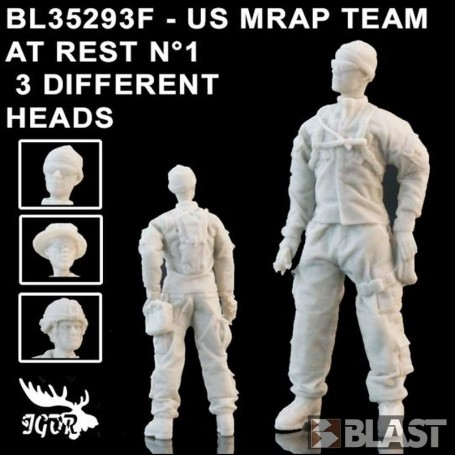 BL35293F - US MRAP TEAM AT REST N1 - 3 DIFFERENT HEADS