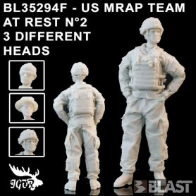 BL35294F - US MRAP TEAM AT REST N2 - 3 DIFFERENT HEADS