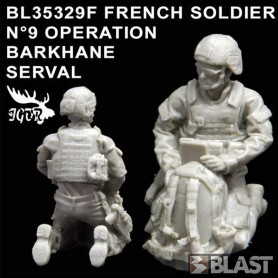 BL35329F - FRENCH SOLDIER N9 OPERATION BARKHANE / SERVAL