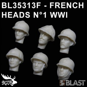 BL35313F - FRENCH HEADS N1 WWI