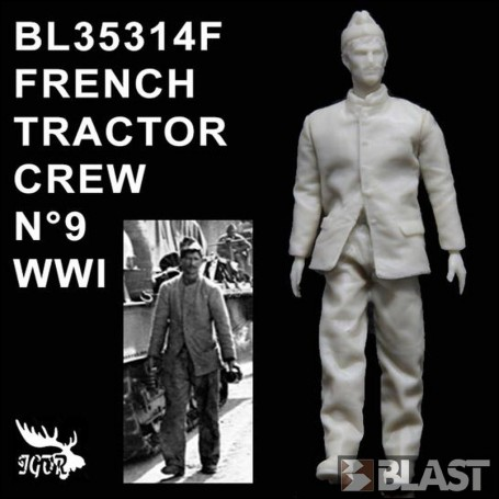 BL35314F - FRENCH TRACTOR CREW N9 WWI