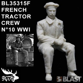 BL35315F - FRENCH TRACTOR CREW N10 WWI
