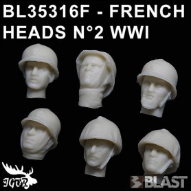 BL35316F - FRENCH HEADS N2 WWI
