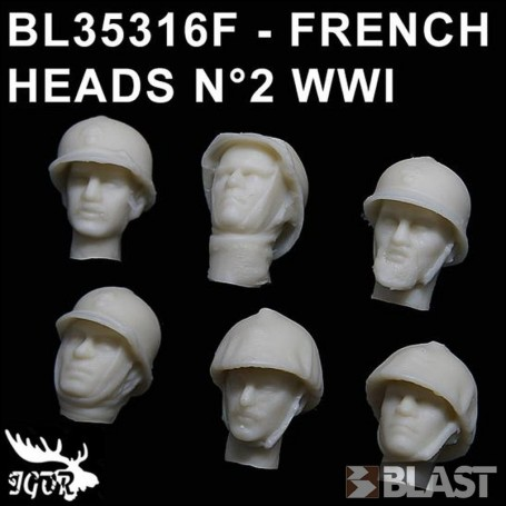 BL35316F - FRENCH HEADS N2 WWI