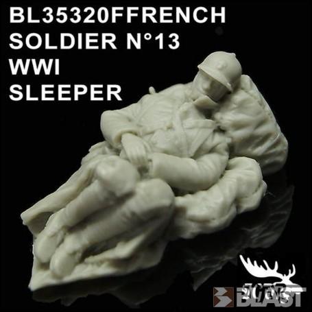BL35320F - FRENCH SOLDIER N13 WWI - DORMEUR