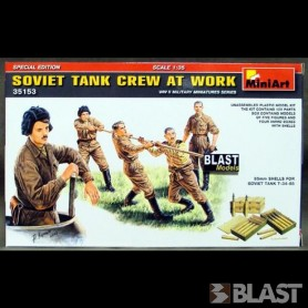 MINIART35153 - SOVIET TANK CREW AT WORK - 5 FIG