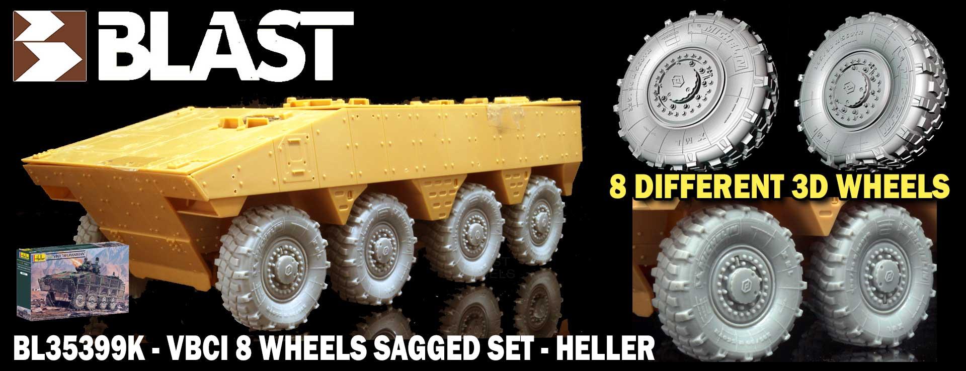 BL35399K - VBCI 8 WHEELS SAGGED SET - HELLER