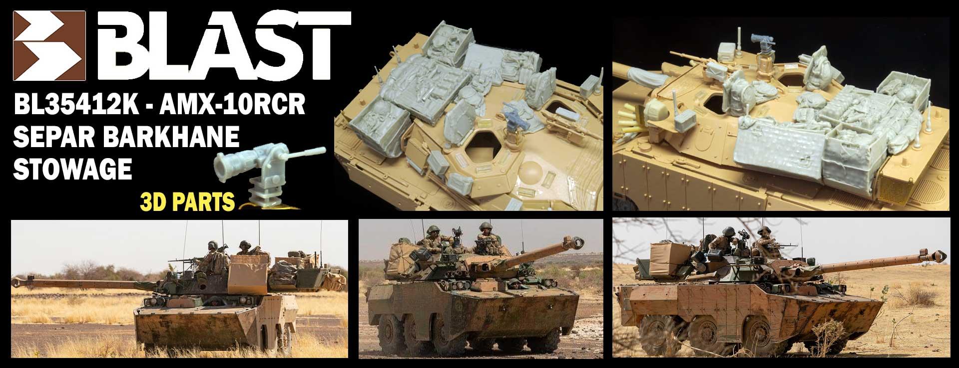 BL35412K - AMX-10RCR SEPAR BARKHANE STOWAGE BL35415K - AMX-10RCR SEPAR UPDATE SET